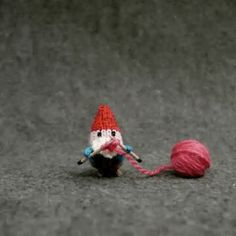 THE KNITTING GNOME -- The rush is over and the time has come to put down your needles and enjoy Christmas Day. My friend Jill sent this darling gif to my phone last ni...