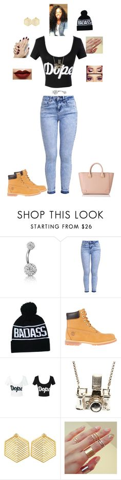 """""""dope"""" by sehnleseh ❤ liked on Polyvore featuring Bling Jewelry, New Look, Timberland, Kiel Mead Studio, Kasturjewels, L.K.Bennett, women's clothing, women, female and woman"""