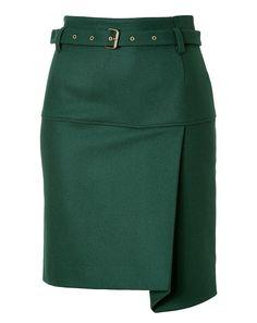 See by Chloe pencil skirt Green Pencil Skirts, High Waisted Pencil Skirt, Mode Outfits, Skirt Outfits, Fashion Outfits, Skirt Pants, Dress Skirt, Waist Skirt, Asymmetrical Skirt