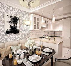 Утвержденный вариант дизайна интерьера по ул. Пирогова. Кухня, с разделением зоны: на рабочую и обеденную, в стиле неоклассика, общая площадь квартиры 63 м2. В интерьере преобладают основные цвета: серый, бежевый, белый и чёрный  с присутствием минимализма, как говорится, ничего лишнего Дизайнер Ефремова Надежда @nadie_ef  #интерьер #дизайн #дизайнпроект #дизайнинтерьера #нашиработы #любимаяработа #дизайнеры #design #interior #interiordesign #yktdesign #indesign #neoklasik #неоклассикав...