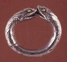 Ring, silver, gold, 1st century, Roman. (British Museum)