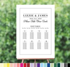 Help your guests find their seat at your wedding reception with this stunning table seating plan. With a minimalist modern design, it's a stylish. Seating Plan Wedding, Wedding Reception, Our Wedding, Wedding Color Schemes, Wedding Colors, Modern Minimalist Wedding, Grammar And Punctuation, Wedding Breakfast, Table Seating