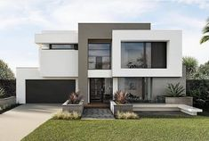 Provence 53 Benson facade Modern House Exterior Benson Facade Provence Best Picture For apartment facade For Your Taste You are looking for something, and it is going to tell you exactly what you are Modern Exterior House Designs, Modern House Facades, Dream House Exterior, Modern Architecture House, Modern House Plans, Modern House Design, Exterior Design, Architecture Design, Modern Contemporary Homes