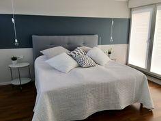 Schlafzimmer Streifen Wand