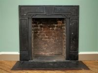 Fantastic George II Irish limestone fireplace with embedded fossils, now restored.