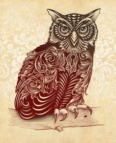 Most Ornate Owl Art Print by Rachel Caldwell