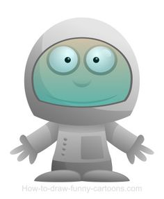 Take a nice trip into our galaxy with this amazing cartoon astronaut.