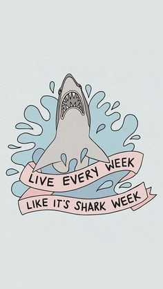 Draw Sharks Shark Week Art print - Take Tracy Jordan's advice and live every week like it's shark week. This is a PRINT from an original drawing. The artwork is printed on acid free white photo paper, sealed in an archival bag Shark Drawing Easy, Shark Wallpaper Iphone, Shark Background, Future Iphone, Shark Tattoos, Cute Shark, Homescreen Wallpaper, Shark Week, Easy Drawings