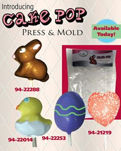 CK Cake Pop Press & Molds - an easy way to make cute cake pops