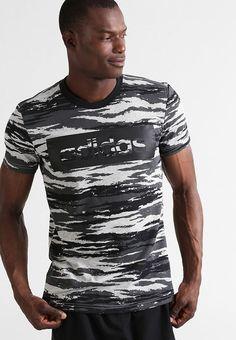 adidas Performance Camiseta print - mottled grey - Zalando.es