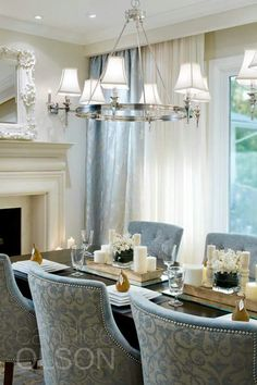 Candice Olson Dining Room Pictures Inspirational Dining Room Chairs are Such A Dominant Feature In the Dining Elegant Dining Room, Luxury Dining Room, Beautiful Dining Rooms, Dining Room Design, Dining Room Table, Interior Design Living Room, Fabric Dining Room Chairs, Design Hall, Dining Room Inspiration