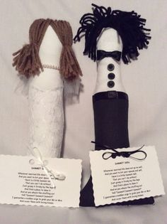 Bride and Groom Dammit Dolls by TenesWeddingTreasure on Etsy