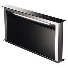 Buy Smeg KDD90VXE Downdraft Cooker Hood, Stainless Steel and Black Glass Online at johnlewis.com