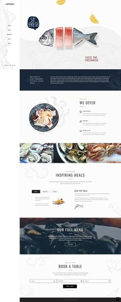 Food Web Design, Web Design Mobile, Design Ios, Menu Design, Flat Design, Book Design, Graphic Design, Restaurant Website Design, Menu Restaurant