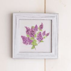 Lilac Print with Distressed Frame Yarrow Avenue Collection www.yarrowavenuecollection.com Home Decor Store Farmhouse Decor  Farmhouse Decor Store