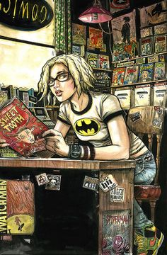 Ren in a Comic Shop by funrama aka Ryan Kelly, via Flickr -