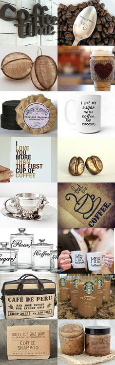 Great coffee themed item that are perfect gifts for any coffee lover or for you! ~ Saturday Morning Coffee by Patti on Etsy--Pinned with TreasuryPin.com