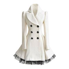 White Ruffled Tulle Coat (175 BRL) ❤ liked on Polyvore featuring outerwear, coats, jackets, dresses, ruffle coat, white coat and tulle coat