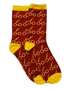 Harry Potter Lightning Bolt Glasses Crew Socks