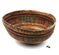 Africa | Basket from the Kanuri, Jos people of Nigeria | 20th century