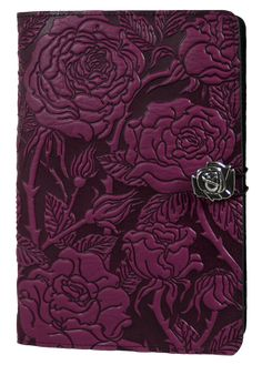Leather Kindle Fire Covers and Cases | Wild Rose in Orchid
