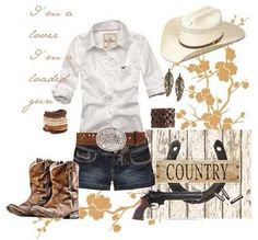 Country fashion. I would for sure wear this! :)