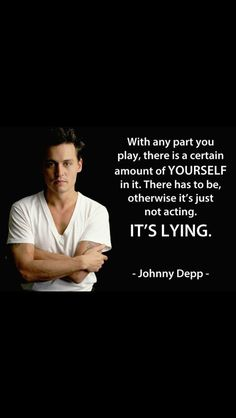 Johnny Depp acting quote