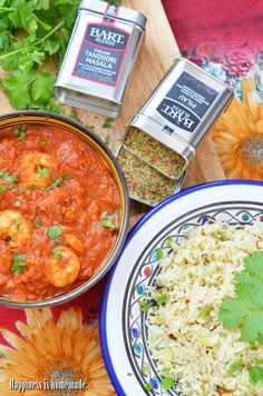 Prawn curry with pilau rice / Krewetkowe curry z ryżem pilau.