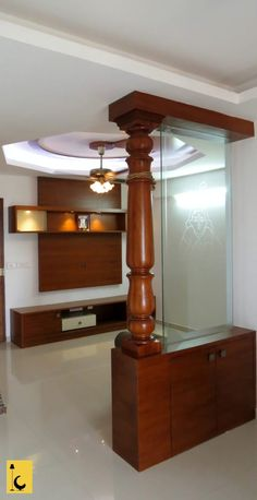 Easy And Simple Partition Living Room Ideas 46 – Indian Living Rooms Glass Partition Designs, Living Room Partition Design, Living Room Divider, Pooja Room Door Design, Home Room Design, Room Partition Wall, Wood Partition, Partition Ideas, Hall Interior Design