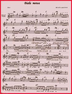 Fotoblog hist.flog.pl. - Biała mewa. ... Violin Music, Sheet Music, Songs, Diamond, Violin, Diamonds, Song Books, Music Sheets