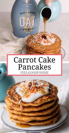 Cake İdeas 347269821270637133 - These carrot cake pancakes are vegan, refined-sugar free and made with pantry staples – they taste like carrot cake and they're perfect for Easter brunch or any spring weekend! Brunch Café, Easter Brunch, Brunch Ideas, Easter Dinner, Dinner Ideas, Brunch Buffet, Brunch Food, Easter Food, Easter Treats