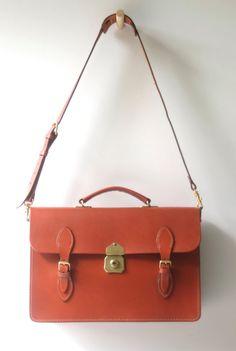 Leather Satchel Briefcase  vintage style by AustralianSatchel