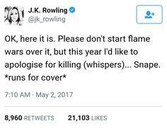 J.K. Rowling's tweet on May 2nd