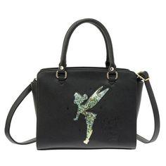 Tinker-Bell-Shoulder-Bag-Fashion-Confetti-Black-Disney-Store-Japan