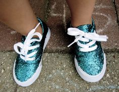 DIY Glitter Shoes for Kids