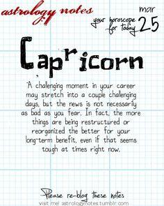 Capricorn Astrology Note: Hey Capricorn, follow us for horoscopes every day!