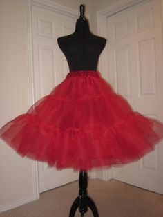 af63e2ddcb974 Red crinoline tea-length petticoat. And this is the petticoat that is under  the