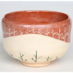 茶碗 赤楽 木立