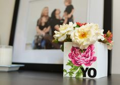 Tiny Prints Postcard and Flower Vase are fun DIY projects.