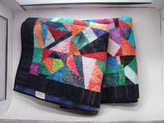 Crazy Modern Abstract Art Quilt Wheelchair by MooseCarolQuilts, $340.00