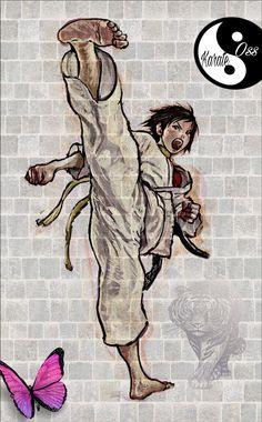 Shotokan Karate, Judo Karate, Kyokushin Karate, Bioshock Art, Fighting Poses, Scary Art, Figure Drawing Reference, Muay Thai, Cute Cartoon