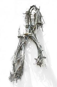 Lee Bul - Galerie Thaddaeus Ropac Mathematical Logic, Sculpture Art, Display, Wall Art, Anime, Sculptures, Floor Space, Billboard, Anime Shows
