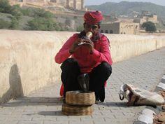 Schlangenbeschwörer vor dem Amber Fort bei Jaipur