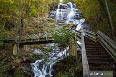 Hike to the top of Amicalola Falls, the tallest waterfall in Georgia, and catch incredible mountain views from the fall's crest.