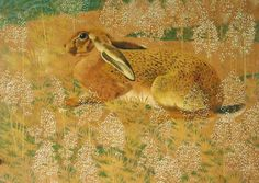 """Charles Tunnicliffe, """"Sitting Hare"""" (1937)"""