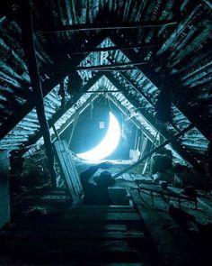 La luna vive en la azotea