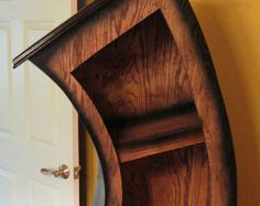 Handmade Curved Bookshelf/Bookcase/Storage/Oak by WoodCurve
