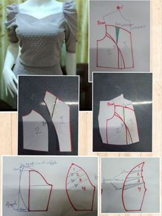 12 Sewing Patterns Tips Pattern Draping, Bodice Pattern, Sleeves Designs For Dresses, Sleeve Designs, Dress Sewing Patterns, Clothing Patterns, Sewing Sleeves, Sewing Blouses, Sewing Projects