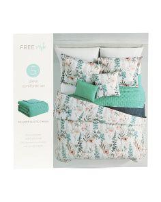 5pc Chelsea Floral Comforter Set Floral Comforter Comforter