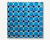 Azul Series Honeycomb Egyptian Blue, Cobalt Blue